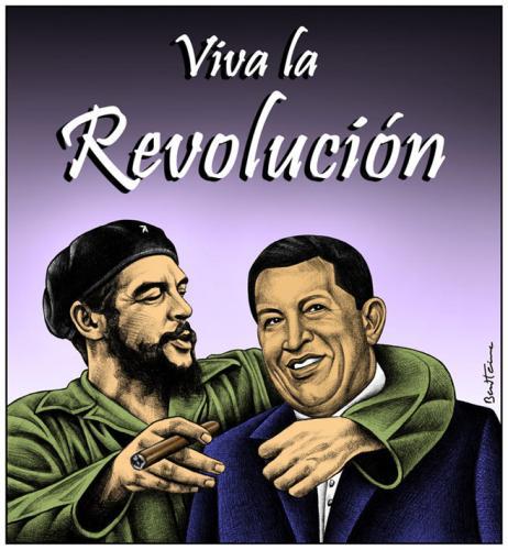 هوجو شافيز....في داكرة Che-guevara_hugo_chavez