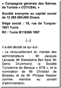 Tunisie comment l ambassade de france n a cess de for Chambre de commerce franco tunisienne