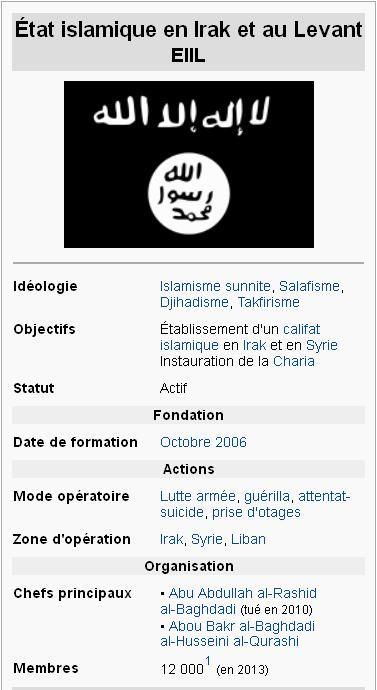 daech eiil tat islamique en irak et au levant d 39 apr s wikipedia sauvegarde vive la. Black Bedroom Furniture Sets. Home Design Ideas